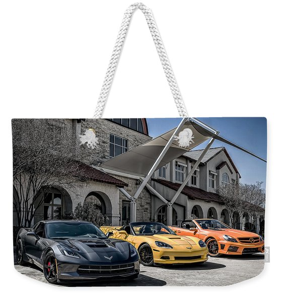 Triple Threat Weekender Tote Bag