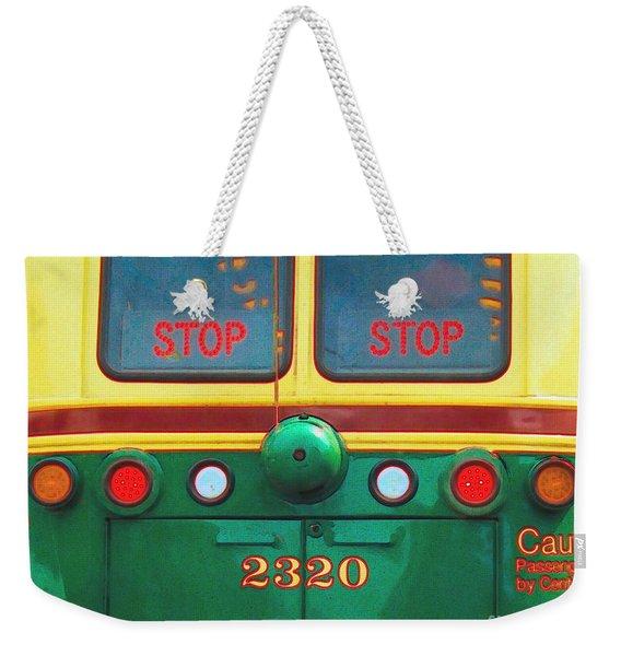 Trolley Car - Digital Art Weekender Tote Bag