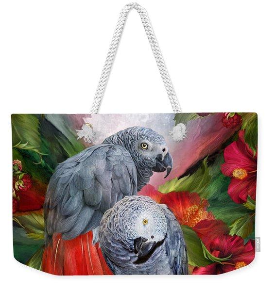 Tropic Spirits - African Greys Weekender Tote Bag