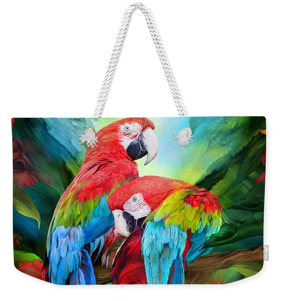 Tropic Spirits - Macaws Weekender Tote Bag