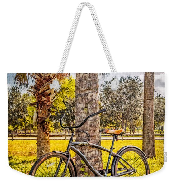 Tropical Bicycle Weekender Tote Bag