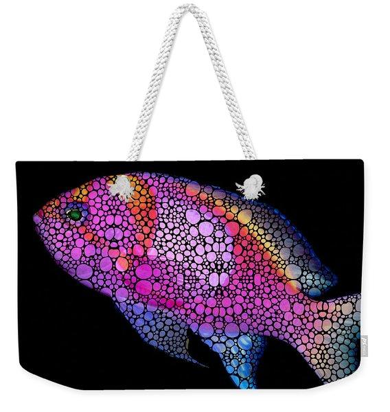 Tropical Fish 7 - Pink Art By Sharon Cummings Weekender Tote Bag