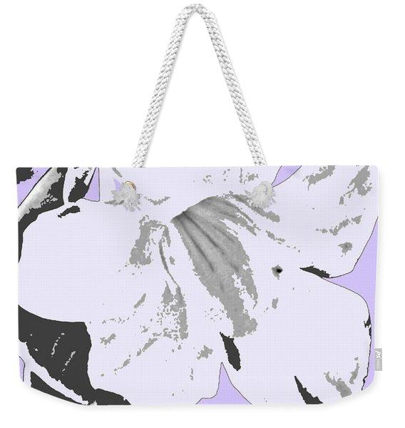 Tropical Floral Violet Black Weekender Tote Bag