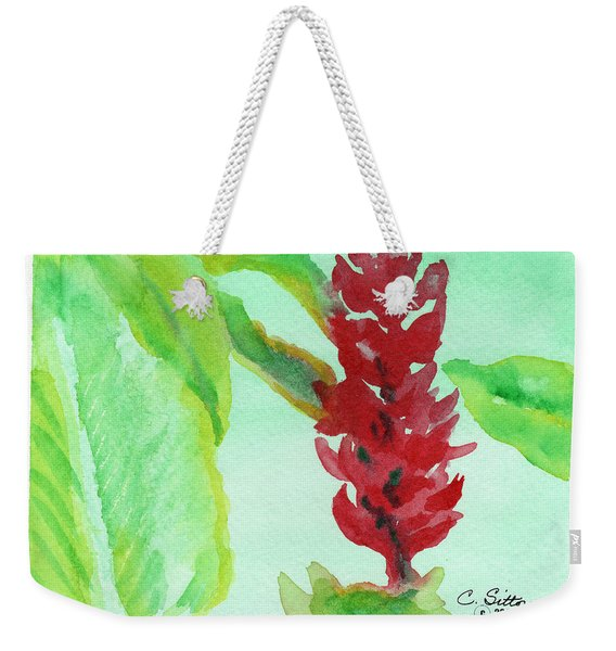 Tropical Flowers 2 Weekender Tote Bag