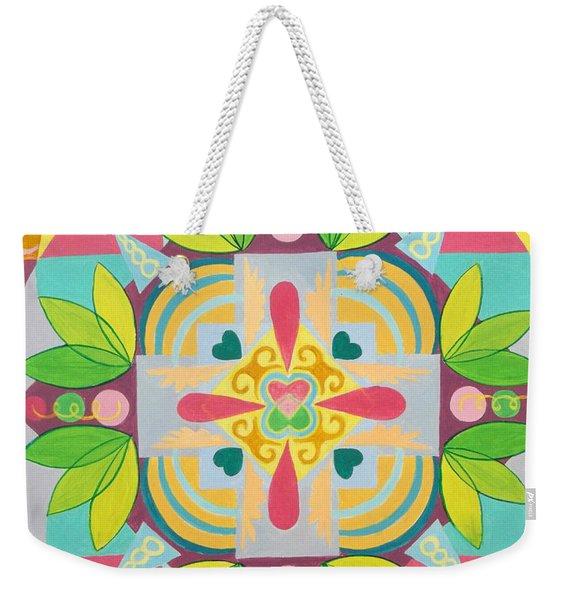 Tropical Mandala Weekender Tote Bag