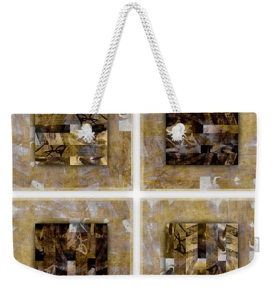 Tropical Panel Four Up Weekender Tote Bag