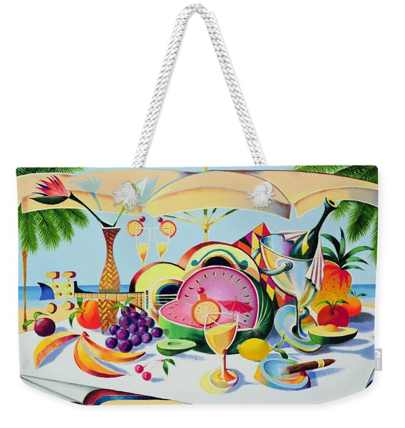 Tropical Still Life For A Cuban Cubist Weekender Tote Bag