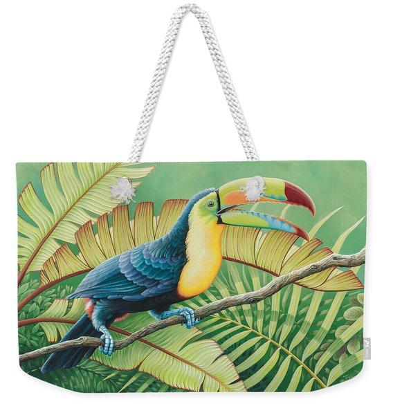 Tropical Toucan Weekender Tote Bag