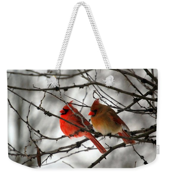 True Love Cardinal Weekender Tote Bag