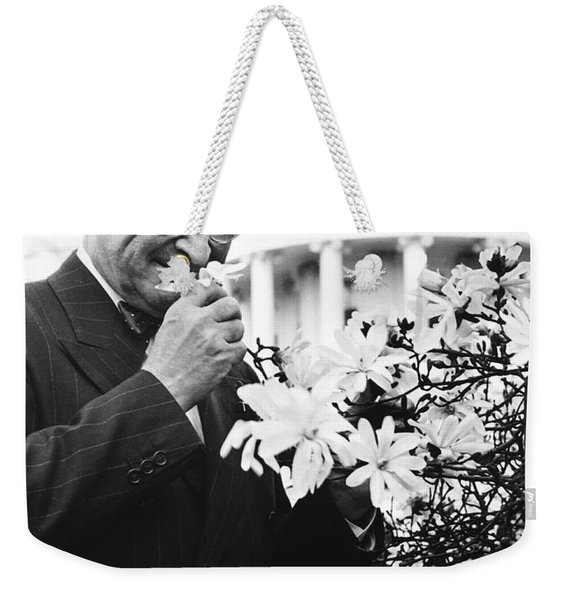Truman Smells A Flower Weekender Tote Bag