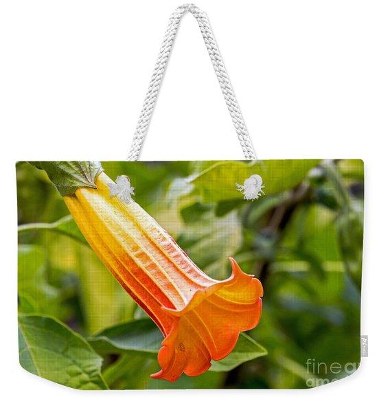 Trumpet Flower Weekender Tote Bag
