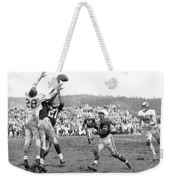 Trying To Catch A Pass Weekender Tote Bag
