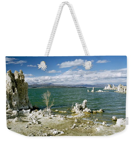 Tufa Rock Formations At The Lakeside Weekender Tote Bag