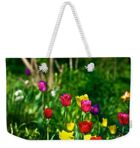 Tulip Rainbow Weekender Tote Bag