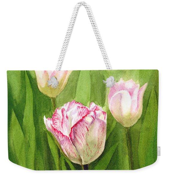Tulips In The Fog Weekender Tote Bag