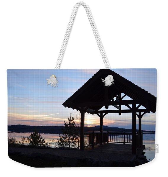 Tupper Lake Sunset Over Raquette Pond Weekender Tote Bag