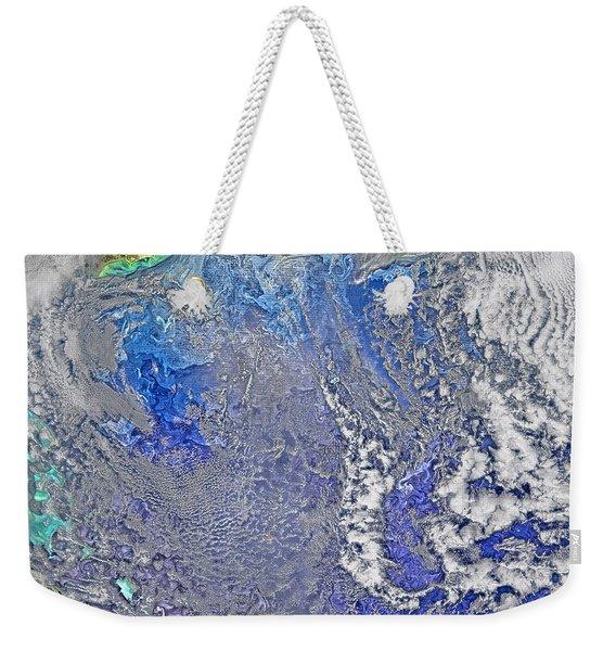 Turbulence In The Atlantic Ocean Weekender Tote Bag