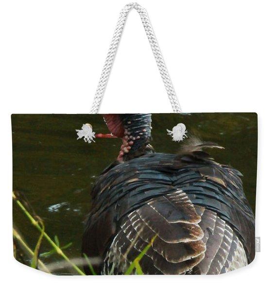 Turkey At Lake Weekender Tote Bag