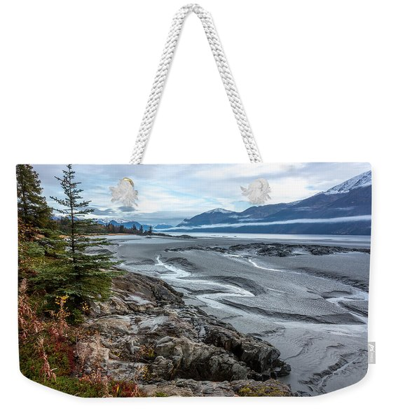 Weekender Tote Bag featuring the photograph Turnagain Tide Flats by Tim Newton