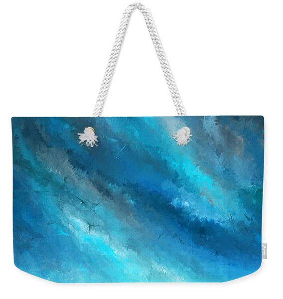 Turquoise Memories - Turquoise Abstract Art Weekender Tote Bag