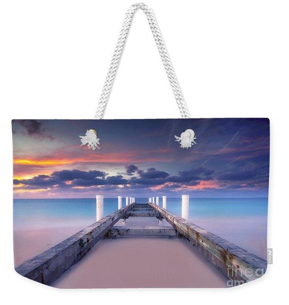Turquoise Paradise Weekender Tote Bag