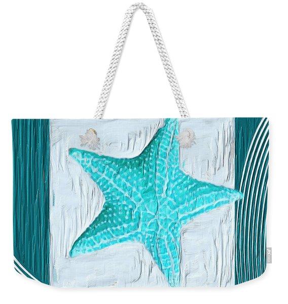 Turquoise Seashells Xviii Weekender Tote Bag
