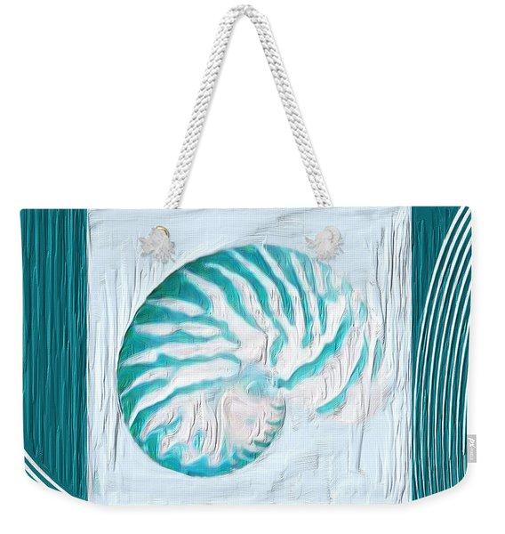 Turquoise Seashells Xxi Weekender Tote Bag