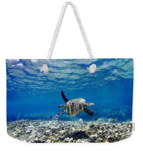 Turtle Cruise Weekender Tote Bag