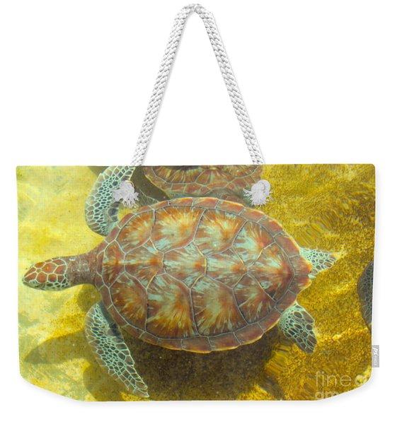 Turtle Day Weekender Tote Bag
