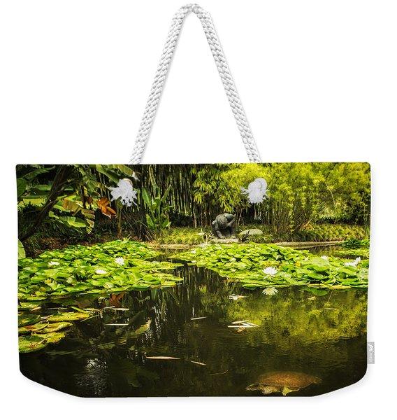 Turtle In A Lily Pond Weekender Tote Bag