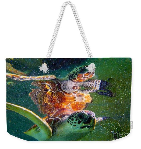 Turtle Reflection Weekender Tote Bag
