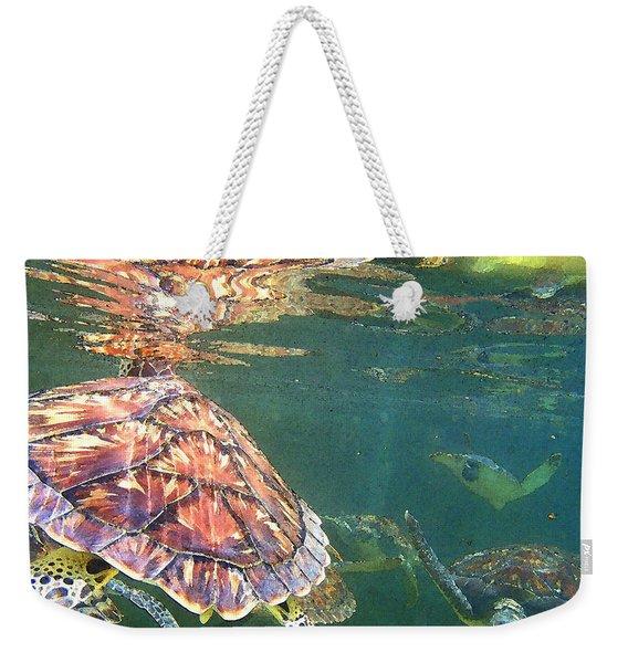 Turtle Reflections Weekender Tote Bag