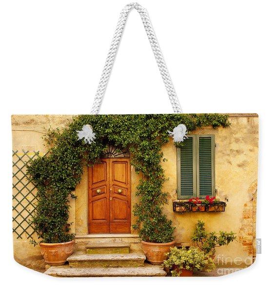 Tuscan Front Door Weekender Tote Bag