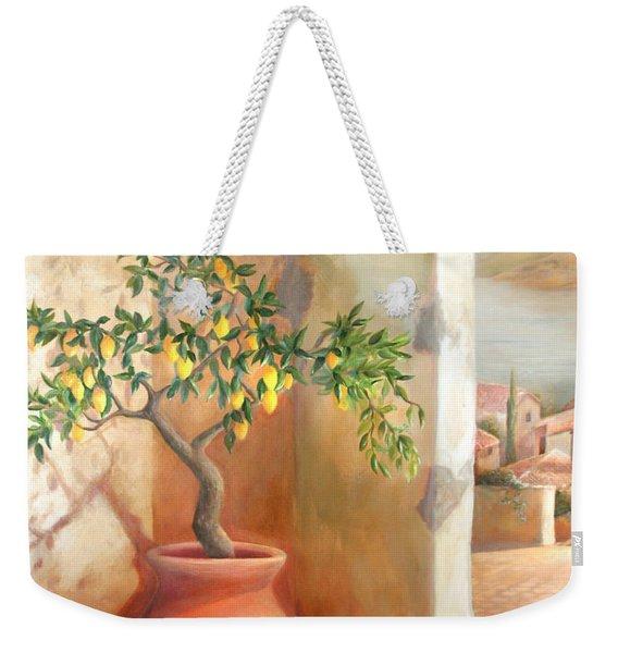 Tuscan Lemon Tree Weekender Tote Bag
