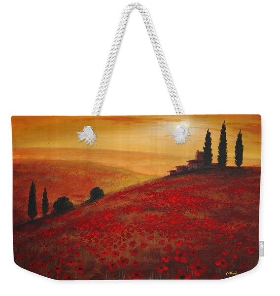 Tuscan Sunset Weekender Tote Bag
