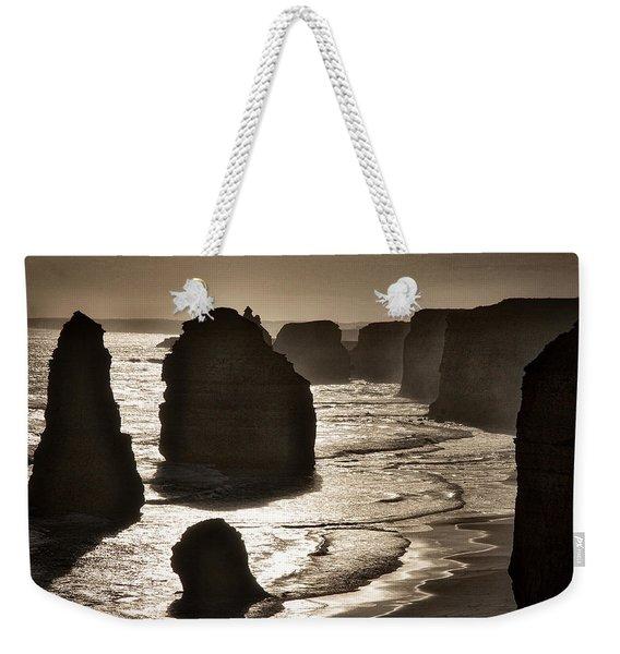 Twelve Apostles #3 - Black And White Weekender Tote Bag