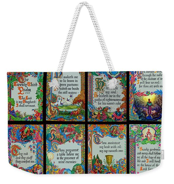 Twenty Third Psalm Collage 2 Weekender Tote Bag