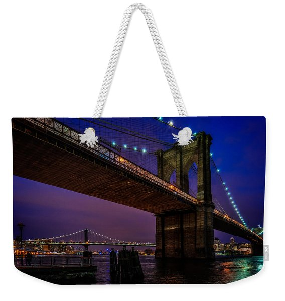 Twilight At The Brooklyn Bridge Weekender Tote Bag