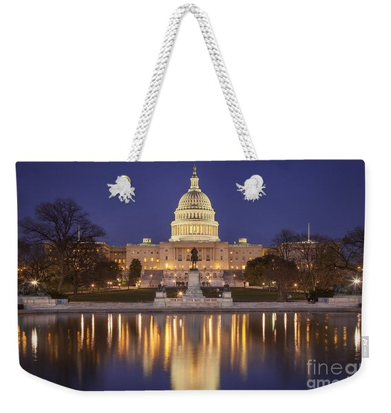 Weekender Tote Bag featuring the photograph Twilight At Us Capitol by Brian Jannsen