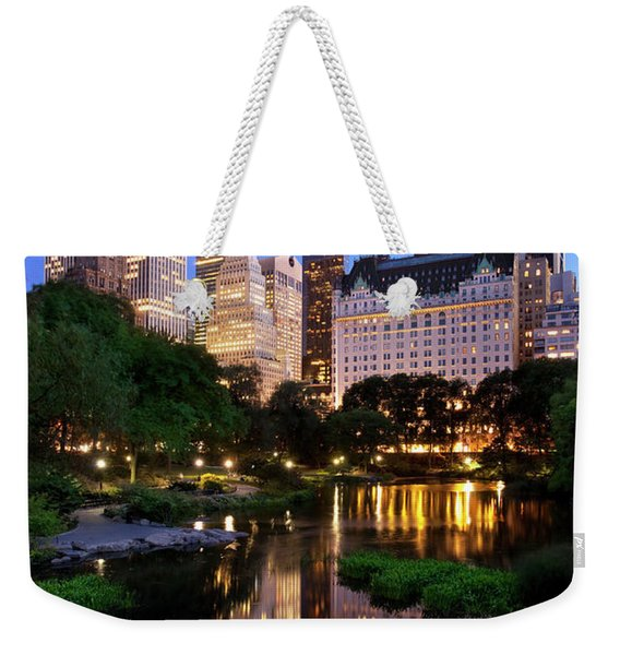 Weekender Tote Bag featuring the photograph Twilight Nyc by Brian Jannsen