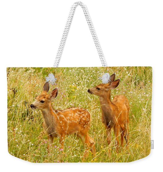 Twin Fawns Weekender Tote Bag