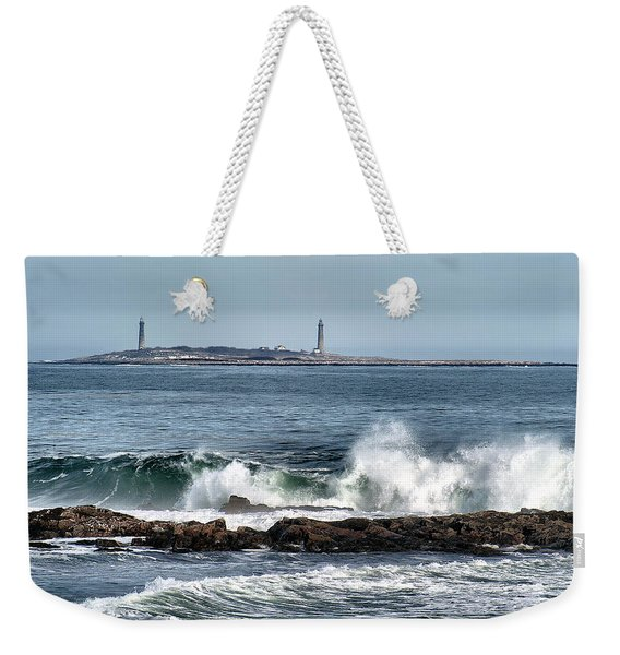 Twin Lights Weekender Tote Bag