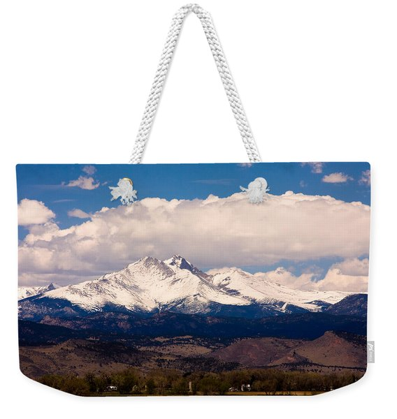 Twin Peaks Snow Covered Weekender Tote Bag