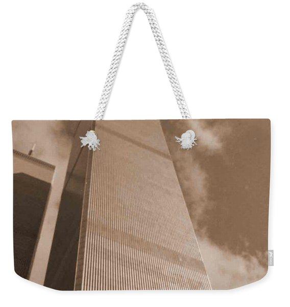 Twin Tower Weekender Tote Bag