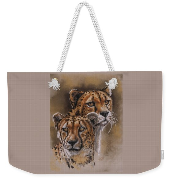 Weekender Tote Bag featuring the pastel Twins by Barbara Keith