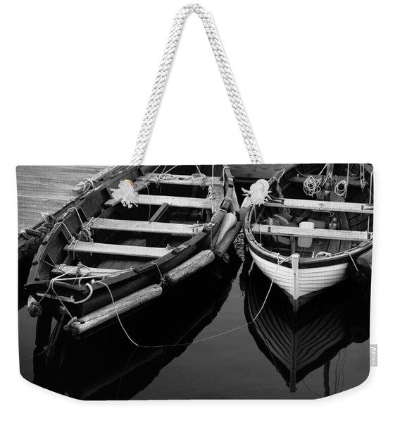 Two At Dock Weekender Tote Bag