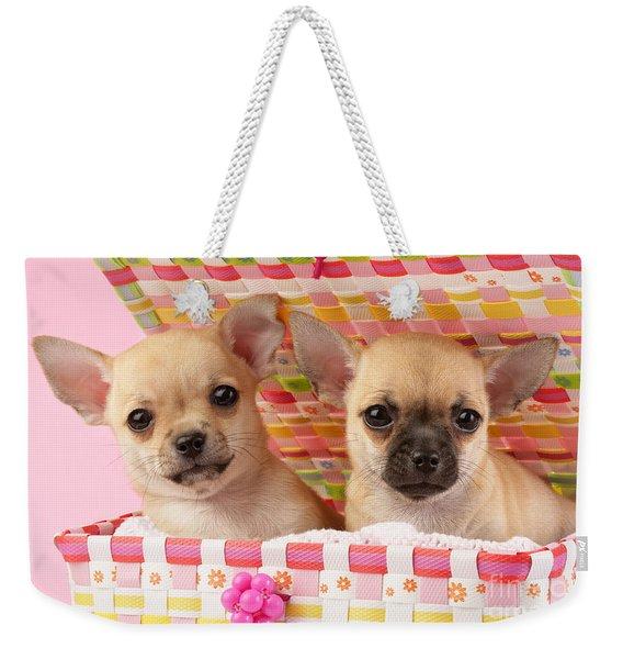 Two Chihuahuas Weekender Tote Bag