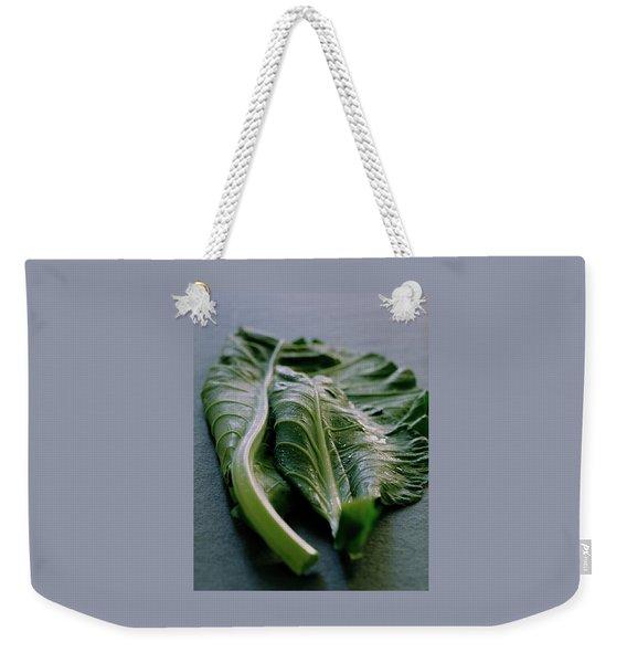 Two Collard Leaves Weekender Tote Bag