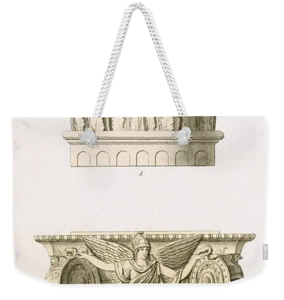 Two Column Capitals Weekender Tote Bag