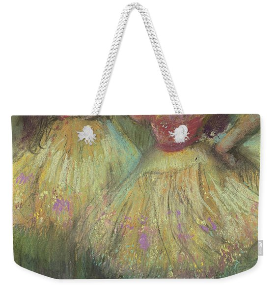 Two Dancers Before Going On Stage Weekender Tote Bag